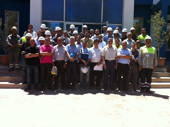 Employees of Ciments Jbel Oust
